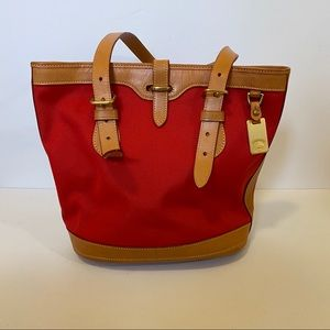 Dooney & Bourke tote bag red canvas
